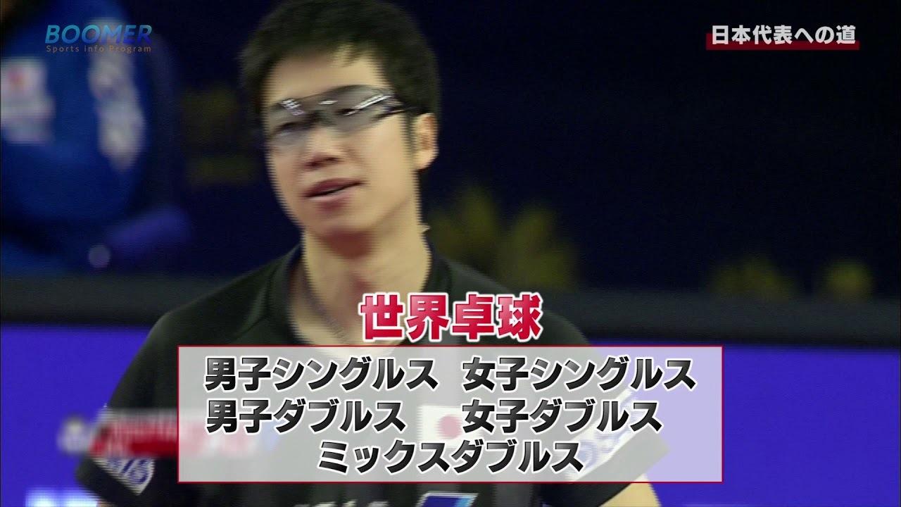 BOOMER 日本代表への道 世界卓球