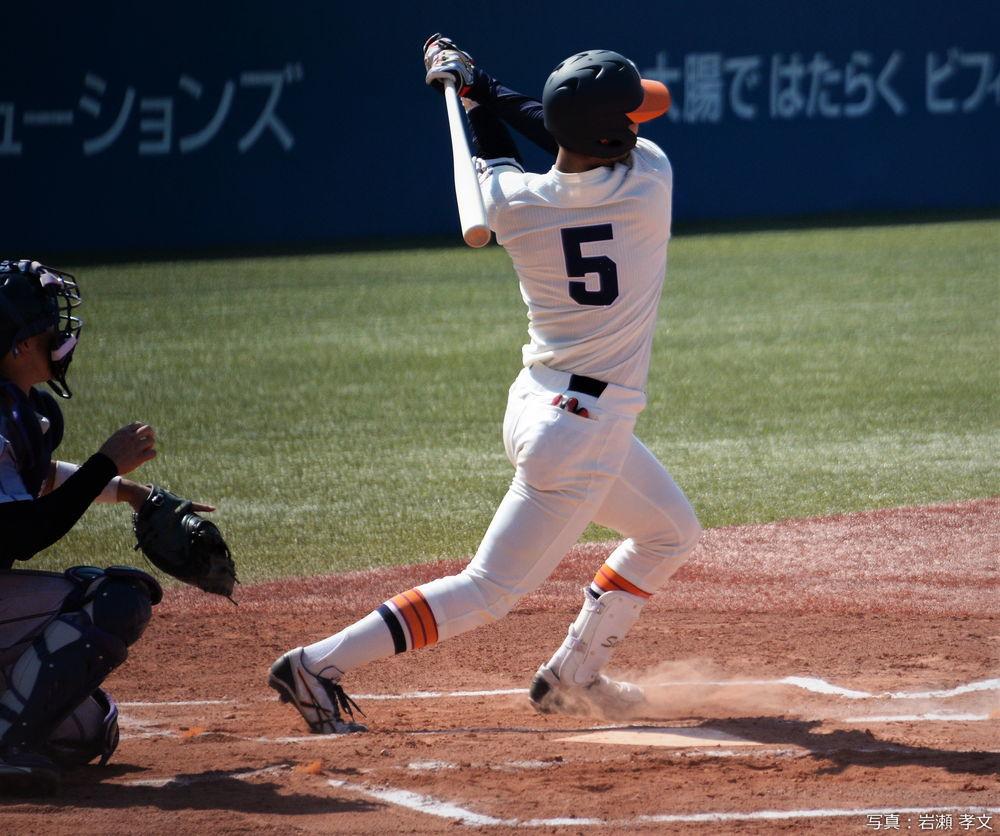 3ラン本塁打の清水外野手(東北福祉大)
